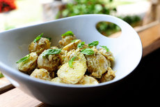 Creamy Lemon Basil Potato Salad