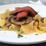 Beef Stroganoff with Butter Noodles