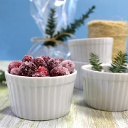 Vanilla-Orange Sugared Cranberries