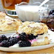 Blackberry Bourbon Shortcakes with Whiskey Cream