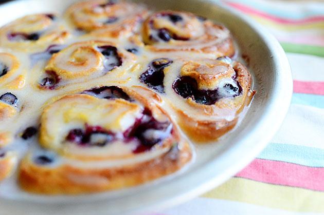 Blueberry Lemon Sweet Rolls