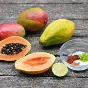 Chile Lime Mango and Papaya