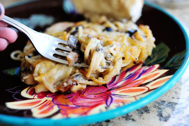 Creamy Chicken Spaghetti Casserole