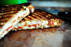 Grilled Chicken and Roasted Red Pepper Panini