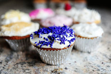 Vanilla Cupcakes with Vanilla Cream Cheese Icing
