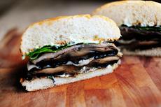 Portobello-Prosciutto Burgers