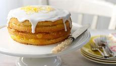 Iced lemon curd layer cake