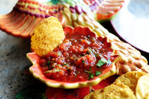 Restaurant style salsa bottomless bites