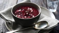 Beetroot soup with feta