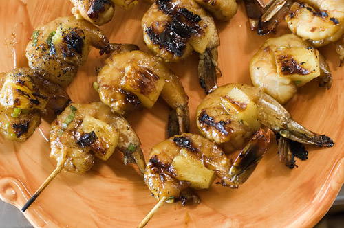 Pineapple Skewered Shrimp