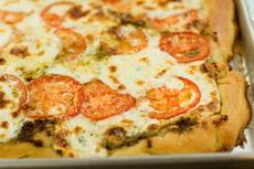 Tomato-Basil Pizza, Two Ways