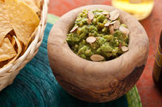 Toasted Almond Guacamole with Apricots Recipe