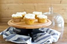 Roasted Peach Cupcake with Vanilla Buttercream