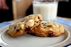 White Chocolate Cranberry Cookies (and a great weekend)