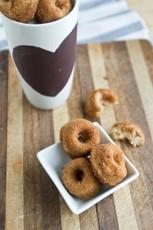 Whole Wheat Banana Nut {Mini} Doughnuts