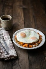Sweet Potatoes, Wheat Berries, and Eggs