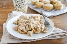 Sweet Potato Biscuits and Vegetarian Gravy