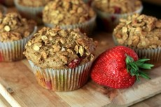 Strawberry granola muffins