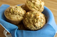 Candied Ginger Zucchini Muffins