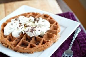 Banana and Dark Chocolate Waffles