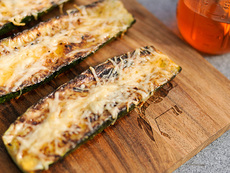 Grilling: Zucchini with Parmesan and Garlic Chili Oil