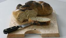 White bread plait