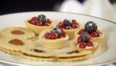 Summer berry tartlets