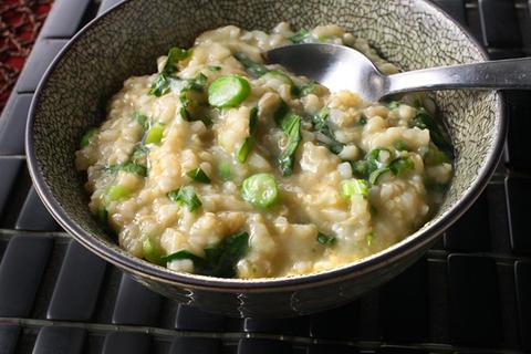 Brown Rice and Gai Lan Jook (Rice Porridge) Recipe