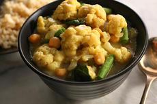 Cauliflower Green Curry Recipe