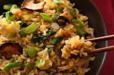 Gai Lan and Shiitake Stir-Fried Brown Rice Recipe