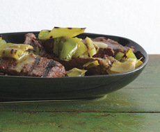 Grilled Steak and Peppers Vinaigrette