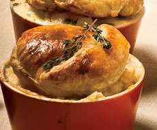 Shrimp and Andouille Pot Pies