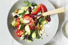 Cucumber, Tomato and Feta Salad