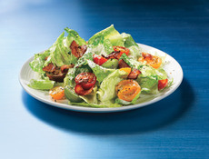 Bacon, Lettuce, and Cherry Tomato Salad with Aioli Dressing