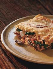 Swiss Chard Lasagna with Ricotta and Mushroom