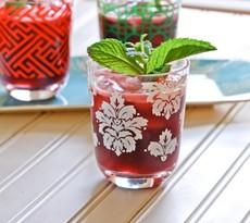 Cherry Ginger Lime Agua Fresca