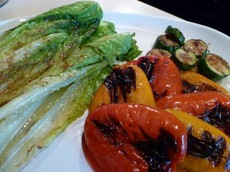 Grilled Romaine with Grilled Veggies