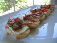 Easy Tomato and Basil Bruschetta