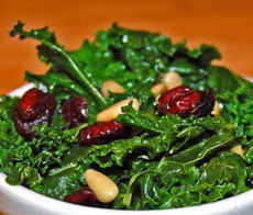 Kale with Cranberries