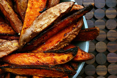 spicy sweet potato wedges + five etceteras
