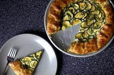 zucchini and ricotta galette