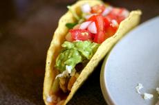 chicken tacos + salsa fresca