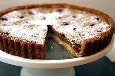cranberry pecan frangipane tart