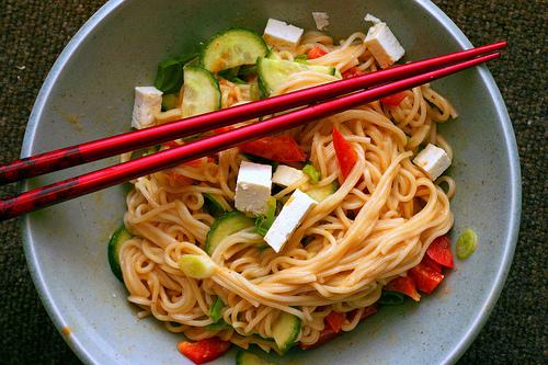 peanut sesame noodles