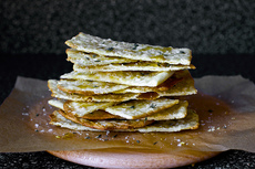 flatbreads with honey, thyme and sea salt