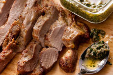 Pork Tenderloin with Salsa Verde  Recipe
