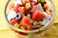 Watermelon, Tomato, and Kalamata Olive Salad Recipe