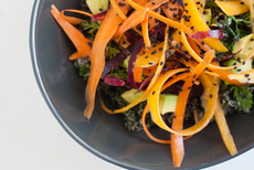 Raw Kale Salad with Creamy Tahini Dressing
