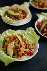 Sweet Corn Salad Wraps