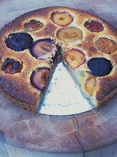 Plum & almond tart